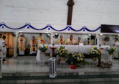 Fr. Ceaser D'mello celebrating the Feast Mass 4th Feb 2018