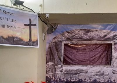 14th Station at the Outdoor Way of the Cross 30th March 2018